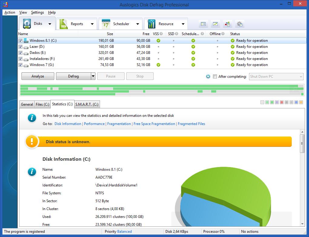 Auslogics Disk Defrag Serial Key