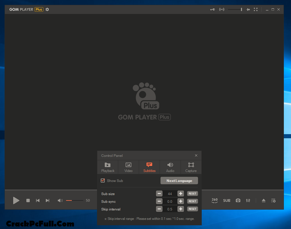 GOM Player Plus License key