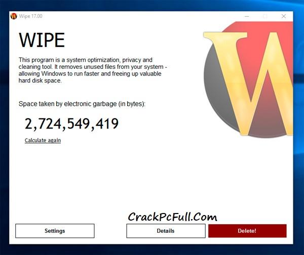Wipe Pro Serial Key
