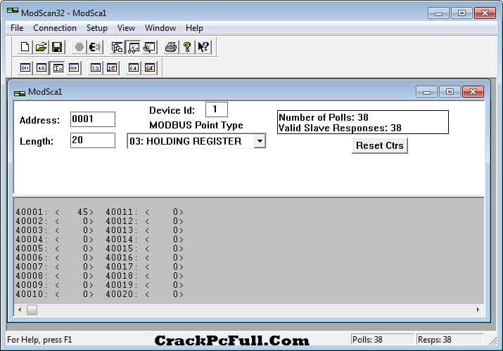 Modbus Poll Crack 9.5.1 With Registration Key Free Download